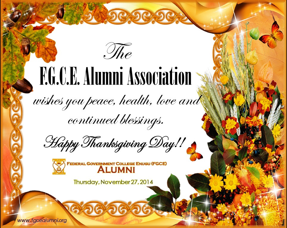 FGCE Thanksgiving Greeting